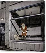 Santa In Window Canvas Print