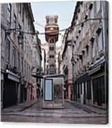 Santa Justa Lift In Lisbon Canvas Print