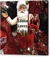 Santa Loves Coke Canvas Print