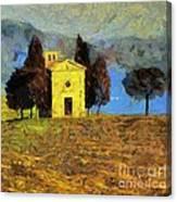 Santa Maria Di Vitaleta Canvas Print