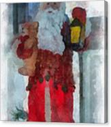Santa Merry Christmas Photo Art 02 Canvas Print