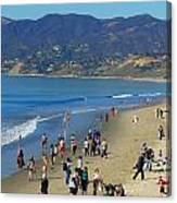 Santa Monica Beach Canvas Print