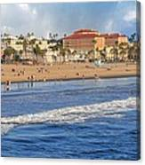 Santa Monica Beach View  Canvas Print