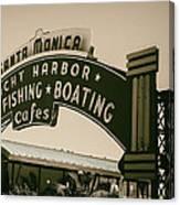 Santa Monica Pier Sign Canvas Print