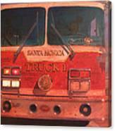 Santa Monica Truck One Canvas Print