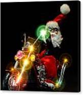 Santa Motoring Canvas Print