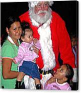 Santa Poses With Fans At Annual Christmas Parade Eloy Arizona 2004 Canvas Print