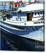 Santa Rosa Purse-seiner Fishing Boat Monterey Bay Circa 1950 Canvas Print