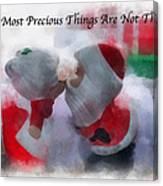 Santa The Most Precious Photo Art Canvas Print