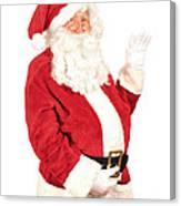 Santa Waving Canvas Print