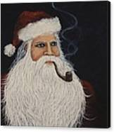 Santa With His Pipe Canvas Print
