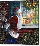 Santa's At The Window Canvas Print