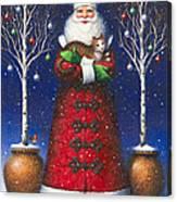 Santa's Cat Canvas Print