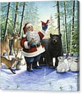 Santa's Christmas Morning Canvas Print