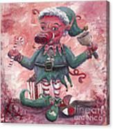 Santa's Littlest Elf Hog Canvas Print