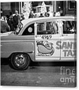 Santa's Taxi Canvas Print