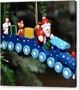 Santa's Train Delivery Canvas Print