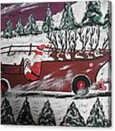Santa's Truckload Canvas Print