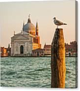Santissimo Redentore At Sunset Canvas Print