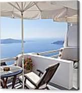Santorini Balcony  Canvas Print