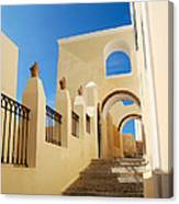 Santorini Catholic Cathedral  Canvas Print