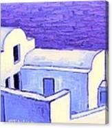 Santorini Houses Canvas Print