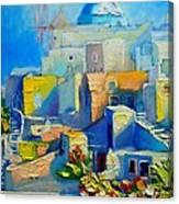 Santorini Light Canvas Print
