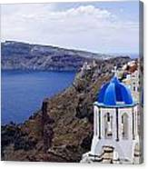 Santorini Panorama 2 Canvas Print