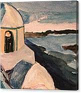 Santorini View Canvas Print
