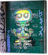 Sao Paulo Green Door II Canvas Print