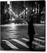 Sao Paulo Street At Night Canvas Print