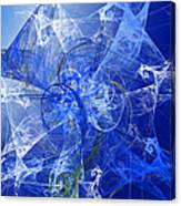 Sapphire In Blue Lace Canvas Print