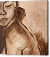 Sapphire In Sepia Canvas Print
