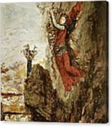 Sappho In Lefkada Canvas Print