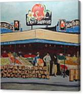 Saprito Bros. Fruit Company Canvas Print