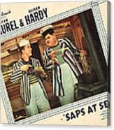 Saps At Sea, Us Lobbycard, From Left Canvas Print