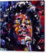 Sarah Vaughan Jazz Face Series Canvas Print