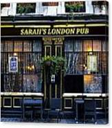 Sarah's London Pub Canvas Print