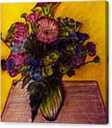 Sarah's Sweet 16 Flowers Canvas Print