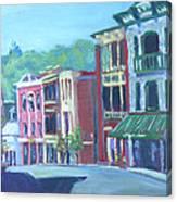 Saranac Lake Ny-sunday Morning Canvas Print