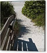 Sarasota Beach Walk Path. Canvas Print