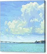 Sarasota Skyline From Sarasota Bay Canvas Print