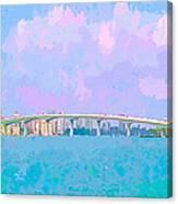 Sarasota Via Ringling Bridge Canvas Print