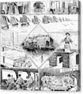 Sardine Fishery, 1880 Canvas Print