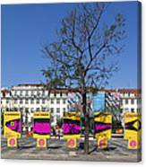 Sardine Outdoor At Pedro Iv Square Best Known As Rossio Square Canvas Print