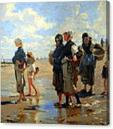 Sargent's En Route La Peche -- Setting Out To Fish Canvas Print