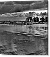 Sarnia Harbour B And W - Canada Canvas Print