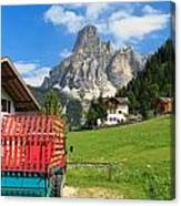 Sassongher Mount From Corvara Canvas Print