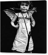 Sassy Cupid Bw Canvas Print