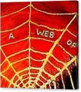 Satan's Web Canvas Print